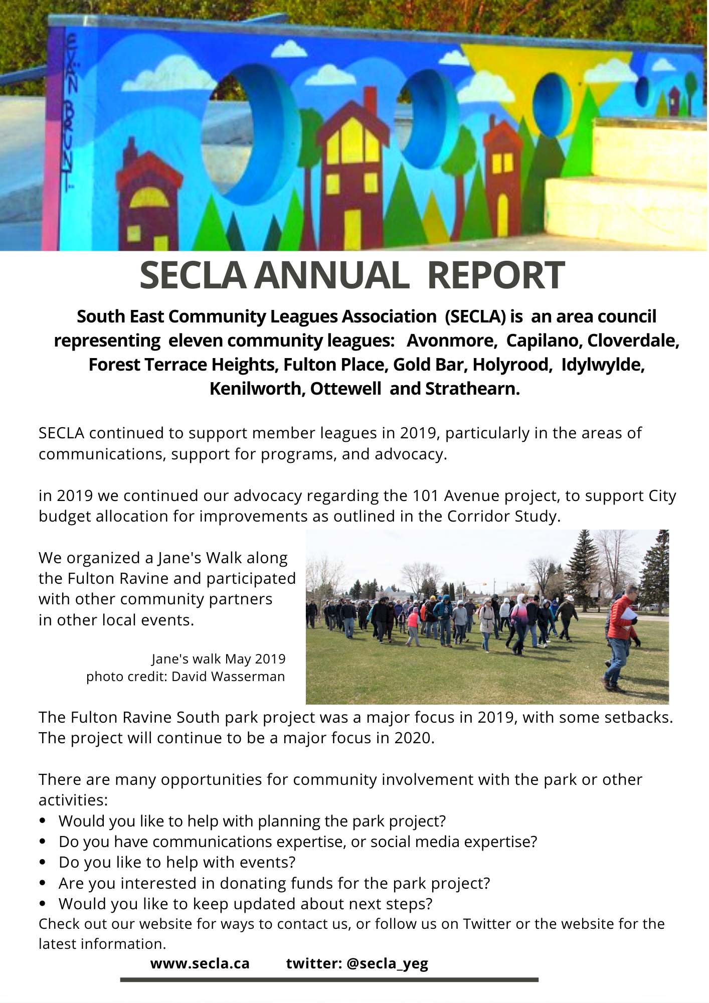 SECLA annual report 2019 page 1